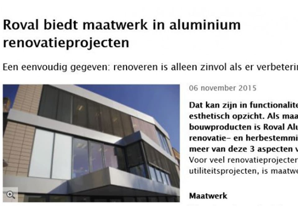 Maatwerk in renovatie